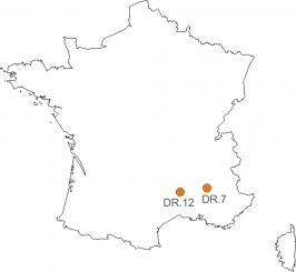 Carte de France + Corse